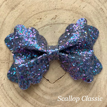 Load image into Gallery viewer, Glitter Bow- NAVY SHINE