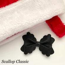 Load image into Gallery viewer, Leather Bow- METALLIC BLACK
