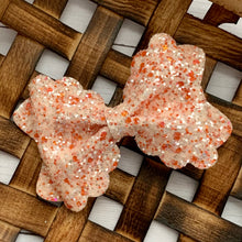 Load image into Gallery viewer, Glitter Bow- PEACHES AND CREAM