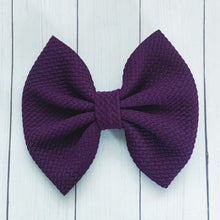 Load image into Gallery viewer, Fabric Bow- EGGPLANT