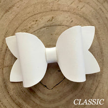 Load image into Gallery viewer, Leather Bow- SMOOTH WHITE
