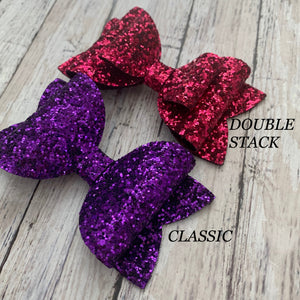 Glitter Bow- PURPLE PREMIUM