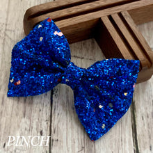 Load image into Gallery viewer, Glitter Bow- ROYAL FUNFETTI