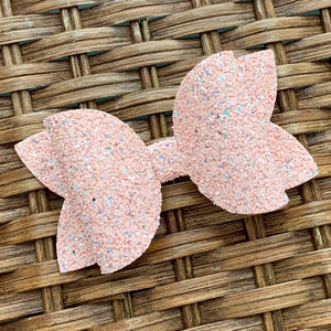 Glitter Bow- NEARLY NUDE