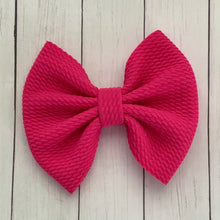Load image into Gallery viewer, Fabric Bow- HOT PINK