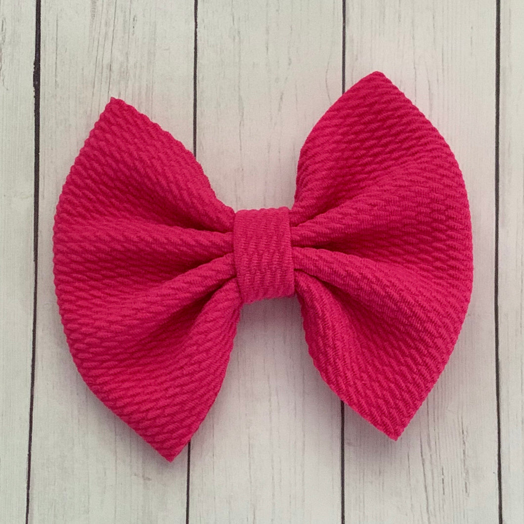 Fabric Bow- HOT PINK