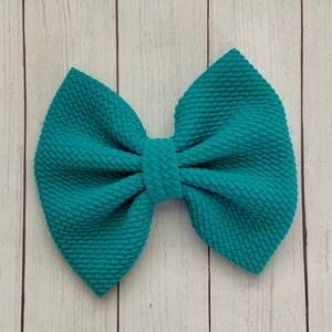 Fabric Bow- TEAL