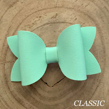 Load image into Gallery viewer, Leather Bow- SMOOTH MINT