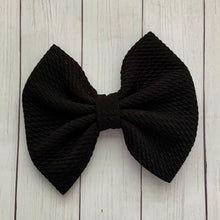 Load image into Gallery viewer, Fabric Bow- BLACK