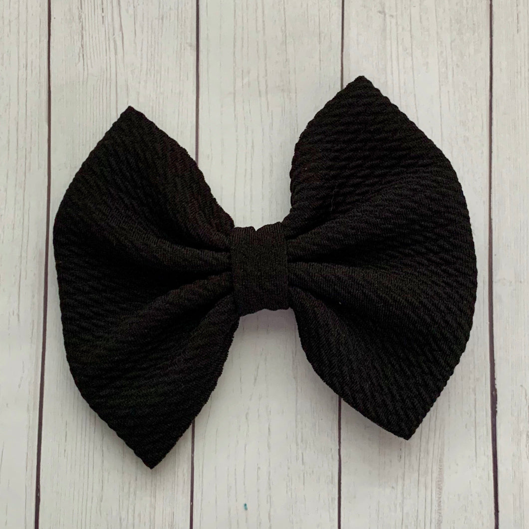 Fabric Bow- BLACK