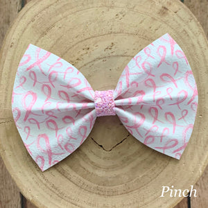 Leather Print- PINK RIBBONS