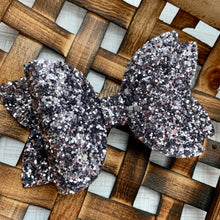 Load image into Gallery viewer, Glitter Bow- GUNMETAL PREMIUM