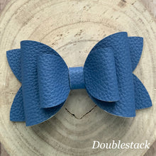 Load image into Gallery viewer, Leather Bow- BLUE