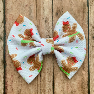 Fabric Bow- GINGERBREAD GIRL