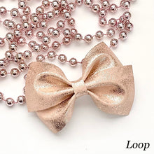 Load image into Gallery viewer, Leather Bow- ROSE GOLD PATINA