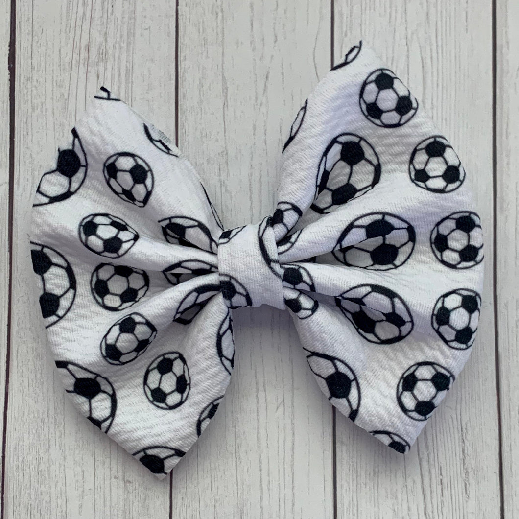 Fabric Bow- SOCCER