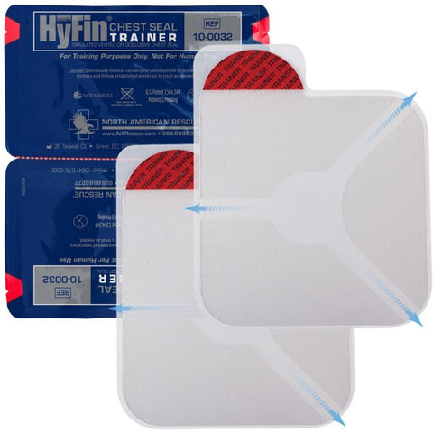 Hyfin Chest Seal, Twin Pack, Trainer