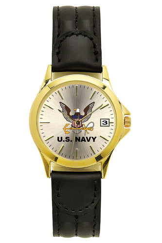 Navy Deluxe Leather Watch