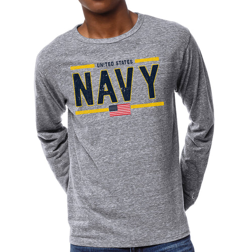 United States Navy Victory Falls Long Sleeve T-Shirt (Heather)