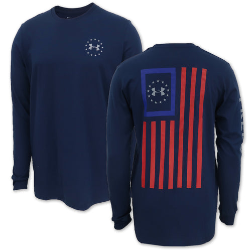 Under Armour Freedom New Flag Long Sleeve T-Shirt (Navy)