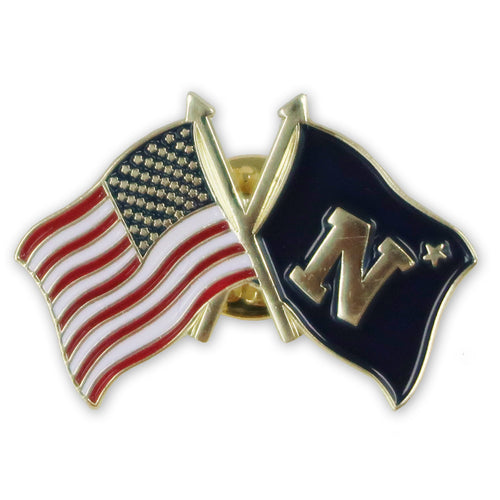 NAVY N-STAR USA FLAG LAPEL PIN