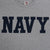 Navy Logo Core USA Made T-Shirt (Grey)