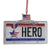 Veteran Hero License Plate Ornament