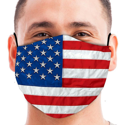 American Flag Face Mask (Red/White/Blue)-Single or 3 Pack
