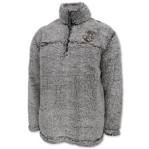 Navy Sherpa Quarter Zip Pullover (Frosty Grey)