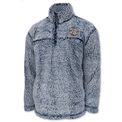 Navy Sherpa Quarter Zip Pullover (Frosty Navy)