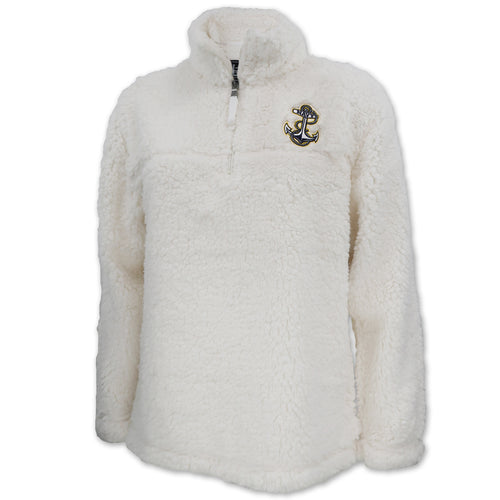 Navy Sherpa Quarter Zip Pullover (Natural)
