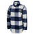 Navy Sherpa Quarter Zip Pullover (Buffalo Plaid)