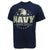 Navy Eagle Head Anchors Aweigh T-Shirt (Navy)