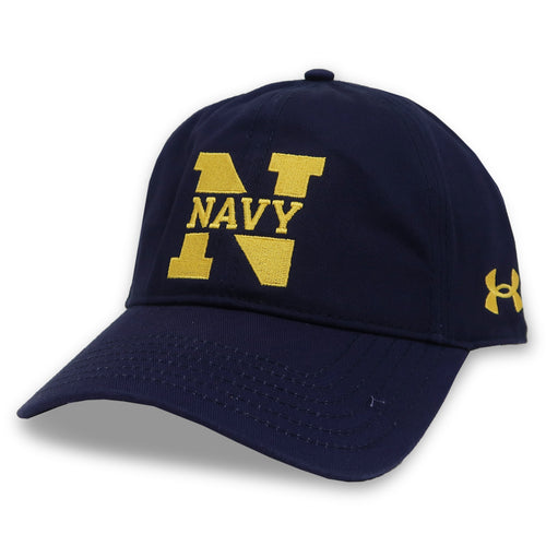 Navy Ladies Under Armour N Garment Washed Cotton Hat (Navy)