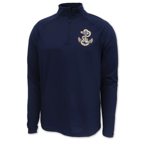 Navy Anchor Under Armour Performance 1/4 Zip (Navy)