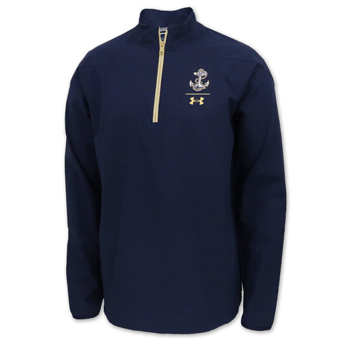 Navy Under Armour Sideline Squad Coaches 1/4 Zip (Navy)