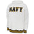 Navy Tackle Twill Fleece Hood (White)