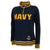 Navy Ladies Tackle Twill Fleece Stripe 1/4 Zip (Navy)