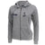 Navy Ladies Angel Fleece Full Zip Hood (Heather Grey)