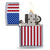 AMERICAN FLAG CHROME COLOR ZIPPO LIGHTER