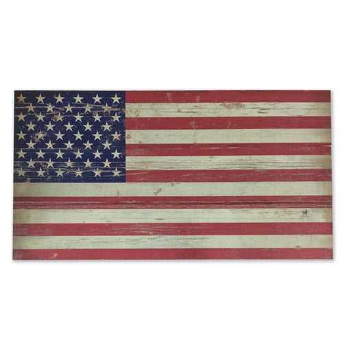AMERICAN FLAG PLANK WOOD SIGN (10.5 IN X 20 IN) 3