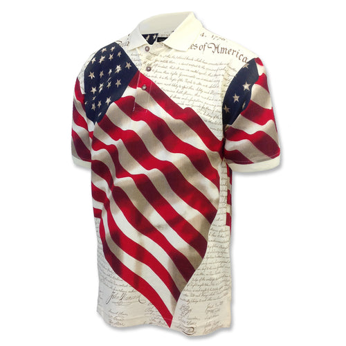 AMERICAN FLAG POLO (NATURAL) 5