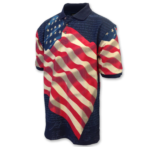 AMERICAN FLAG POLO (NAVY) 5