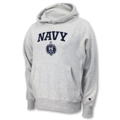 USNA ISSUE CHAMPION REVERSE WEAVE HOOD (ASH) 2