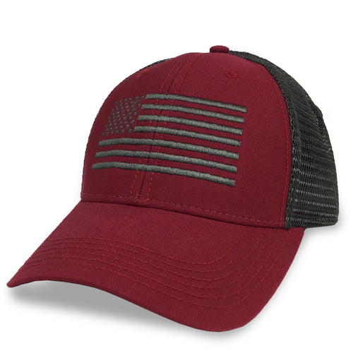 FLAG LO PRO SNAPBACK TRUCKER HAT (RED) 5
