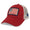 FOLDS OF HONOR USA FLAG LOW PROFILE TWILL TRUCKER HAT (RED) 3