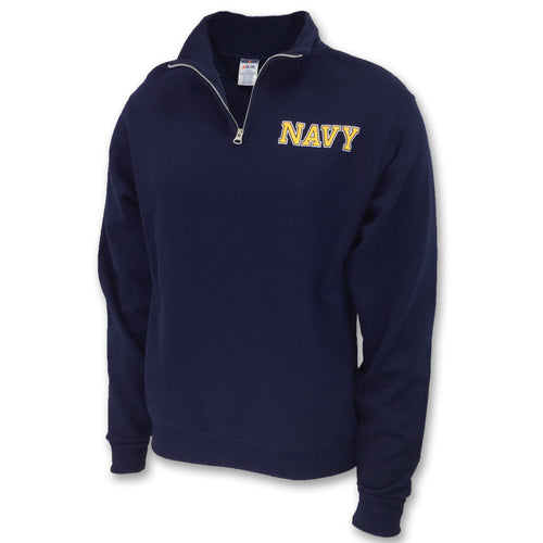 NAVY 1/4 ZIP SWEATSHIRT (NAVY) 2