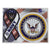 NAVY 2 IN 1 RIBBON AND SEAL MAGNET