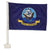 "NAVY 2 SIDED CAR FLAG (12""X18"") 2"