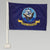 "NAVY 2 SIDED CAR FLAG (12""X18"") 1"